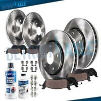 Front & Rear Brake Rotors + Brake Pads Honda Accord Rotor Brakes Pad