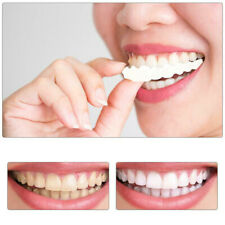 2PCs Smile Snap On Teeth Fake Upper Lower Cosmetic Tooth Cover False Dentures