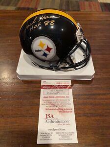 Jack Ham Autographed Riddell Pittsburgh Steelers Mini Helmet HOF 88 Witness JSA