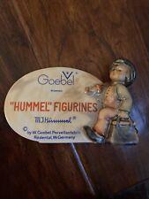 New ListingOriginal Vintage Hummel Goebel Advertising Sign / Plaque - Merry Wanderer