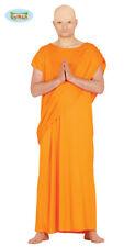 Mens Hare Krishna Buddhist Monk Robe Orange Cloak Religious Fancy Dress Costume