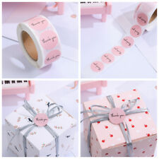 Gift Packaging Round Thank You Seal Labels Sticker roll Pink Stickers