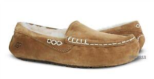 UGG Ansley Chestnut Suede Fur Slippers Womens Size 10 *NIB~