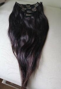 Clip In Human Hair Extensions 16 inch Dark Brown Raw Human Hair Extensions