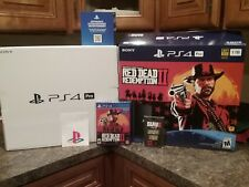 PS4 Pro Red Dead Redemption 2 BOX ART & GAME ONLY! NO CONSOLE OR CONTROLLER! OBO