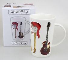 Chitarra ELETTRICA Tazza da latte macchiato alto stile Tazza Cina in Giftbox chitarrista Ideale Regalo
