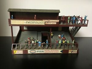 AURORA GRANDSTAND With lots of PEOPLE Model MoToRING , T Jet Race Track Building