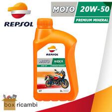 OLIO MOTORE REPSOL MOTO SINTETICO 4T 20W50 MINERALE 4 TEMPI - 1 LITRO LT