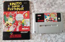 Krusty's Super Fun House Super Nintendo  SNES, 1992 With Manual 90s nostalgia