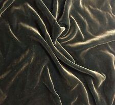 """Hand Painted Silk Velvet Fabric - Antique Gold on Mallard Green Fat 1/4 18""""x22"""""""