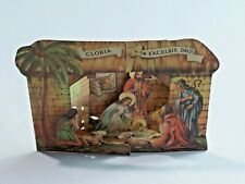 Vintage Stand Up Nativity Card 1940 Reproducta Gloria in Excelsis Deo! N.Y.