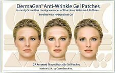 DERMAGEN ANTI-WRINKLE PATCHES  3 PACK SPECIAL FROWN SMILE LINES CREASES FOREHEAD