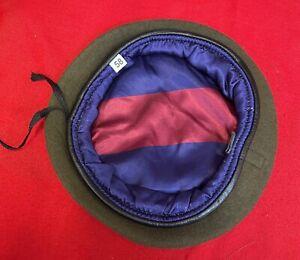 Khaki Beret & Guards Silk Lining, Small Crown, Gren Coldstream Scots Welsh Irish