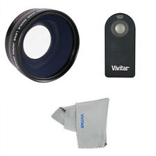 WIDE ANGLE LENS+ MACRO LENS+ REMOTE FOR CANON EOS REBEL 20D 30D 40D 60D T3 T3I