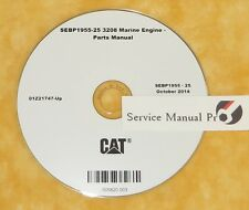 SEBP1955 Caterpillar 3208 Marine Engine Parts Manual Book CD