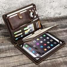 Genuine Leather Business Padfolio Portfolio Organizer, Resume Folder, iPad case