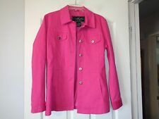 ATELIER BY B. THOMAS FUSCIA BUTTON DOWN LINED JACKET SZ SMALL