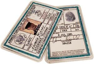 Gunny Highway Clint Eastwood USMC Marine US Military Army ID Card Prop Badge Tag