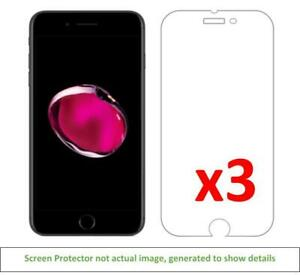 3x iPhone 7 Plus iPhone 8 Plus Anti-Scratch Screen Protector w/ cloth
