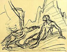 KLAUS DRECHSLER - Prometheus I - Federzeichnung 2002