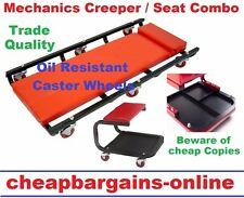 MECHANICS GARAGE WORKSHOP CREEPER WITH SEAT STOOL COMBO WORKSHOP EQUIPMENT TOOL