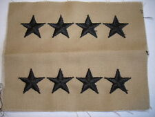 General Rank Tan Sew On  Four Stars Set of 2 Army USA Made Embroidered New