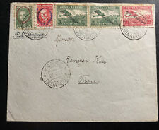 1927 Korce Albania Early Airmail Cover To Tirana Sc#C8-9