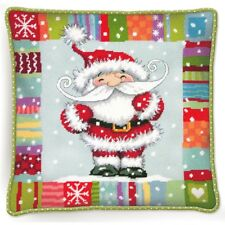 Needlepoint Kit PATTERNED SANTA Christmas Dimensions New Release!