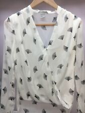 Womens Shear Long Sleeve White Lightweight Blouse Size Small