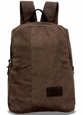 ALILAW vintage retro canvas backpack rucksack briefcase book bag hiking travel