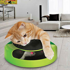 CAT/KITTEN CATCHING MOUSE PLUSH MOVING TOY SCRATCHING CLAW CARE PLAY MAT