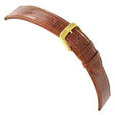 22mm Di-Modell Genuine Teju Lizard Tan Aero-Padded Stitched Mens Watch Band