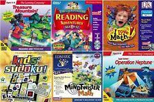 Kids Learning Games Math Reading Edutainment Pc Windows Xp Vista 7 Sealed New
