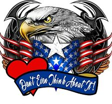 "American Eagle Don't Even Patriotic Decal 14"" Trailer RV Truck Boat Vinyl"