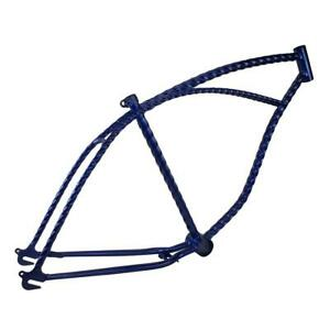 """26"""" Twisted Bicycle Frame Blue Lowrider Cruiser Bikes"""
