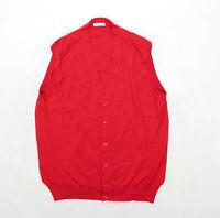 Misto Nobile Mens Size 2XL Merino Wool Blend Red Top