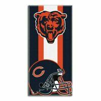 "NFL Chicago Bears Logo Cotton Beach Towel 30"" x 60"" Brand New Zone Read"
