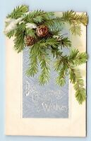 NICE UNUSED EARLY 1900s DIE-CUT & EMBOSSED NOVELTY CHRISTMAS POSTCARD - V3