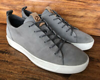 Mens Ecco Casual Fashion Sneakers Walking Shoes Size EU 42 US 9 Gray Leather