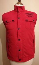 Hackett Aston Martin Racing Gilet Jacket Red Size XS