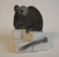 ROYAL COPENHAGEN BROWN MOUSE on CHEESE     510