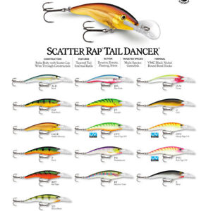 Rapala Scatter Rap Tail Dancer // SCRTD09 // 9cm 13g Lures (Choice of Colors)