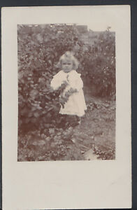 Family History Postcard - Ancestors - Young Girl Posing In a Garden  RS5401