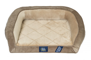 Dog Bed Serta Pedic Petite Gel Memory Foam Orthopedic Quilted Couch Brown Finish