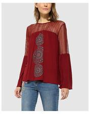 Magliette da donna a manica lunga rosso taglia XXL