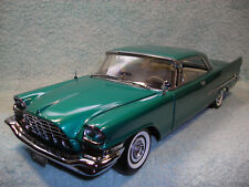 1/18 1957 CHRYSLER 300C HEMI IN METALLIC GREEN BY ERTL COLLECTIBLE MINT.