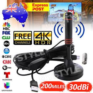 Portable TV Antenna Indoor Outdoor Digital HD Freeview Aerial Ariel 200Mile AU