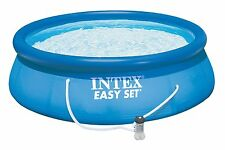 Intex 15 x 42 Easy Set Above Ground Swimming Pool Package 1000 GPH Pump 28165EH
