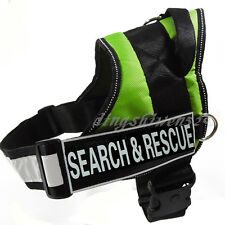 NEW Unisex Service Dog Harness Vest Removable Personalized Patches Nylon