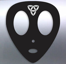 Alien head With Sacred Geometry Vinyl Sticker 120 × 100 mm aussie made & design